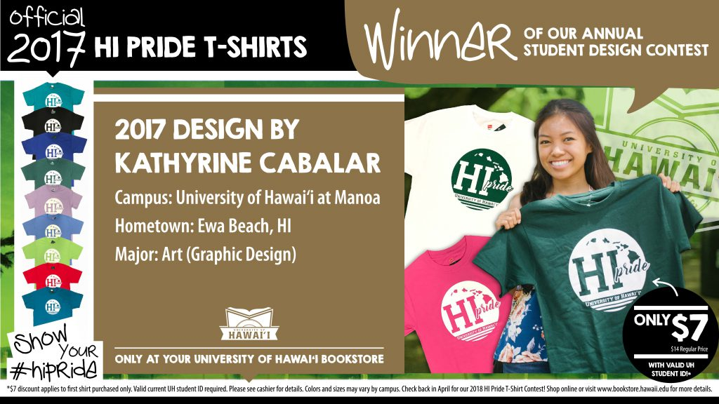 Kathyrine Cabalar, a UH student from ʻEwa Beach, designed this year's shirt.