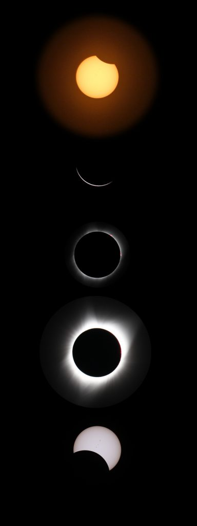 Series of the solar eclipse taken from Jones' yard on Aug. 21, 2017.