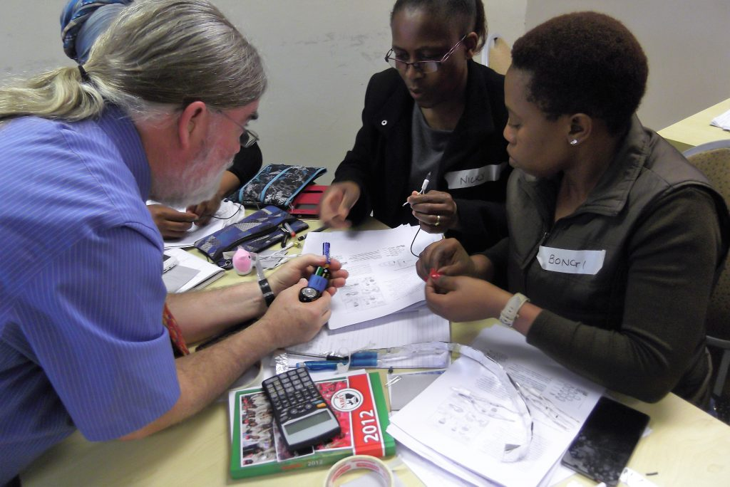 Dr. Jones working with South African teachers during the summer of 2017.
