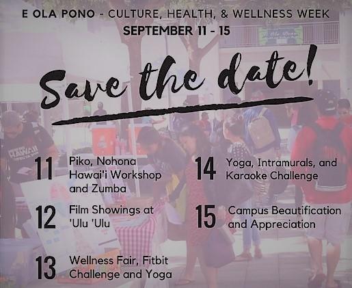 E Ola Pono week flyer