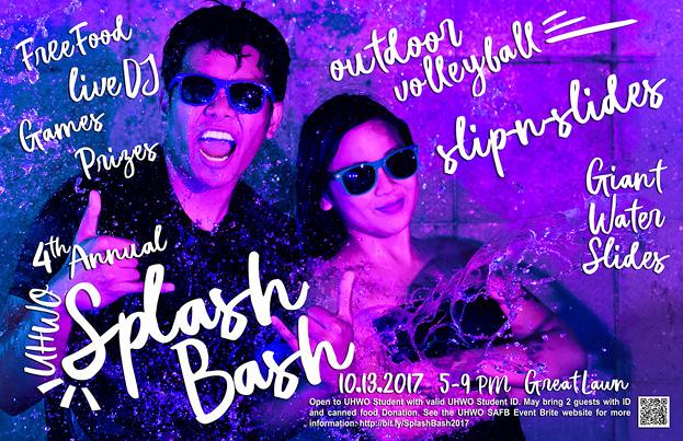 Web flyer for Splash Bash Oct. 13