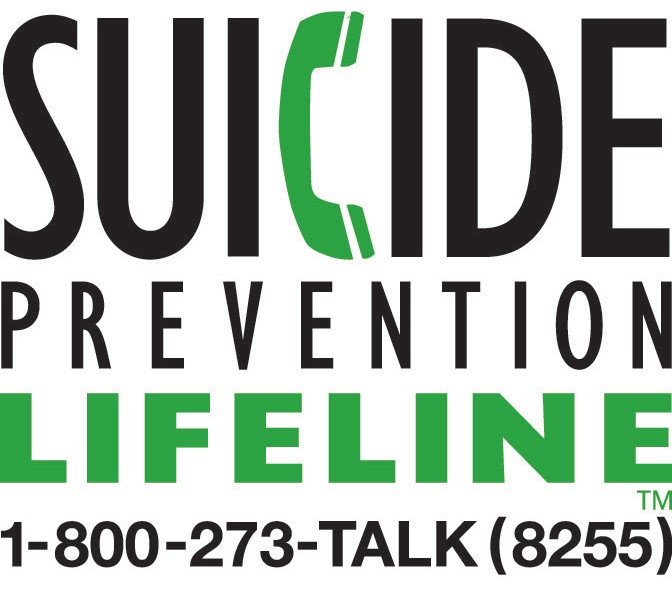 Graphic of Suicide Prevention Lifeline 1-800-273-8255
