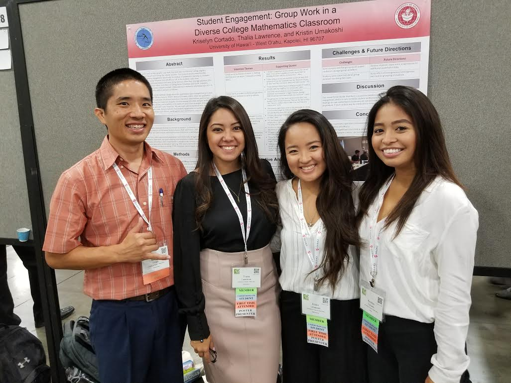 Photograph: From left: Dr. Michael Furuto, Thalia Lawrence, Kristin Umakoshi, Kriselyn Cortado