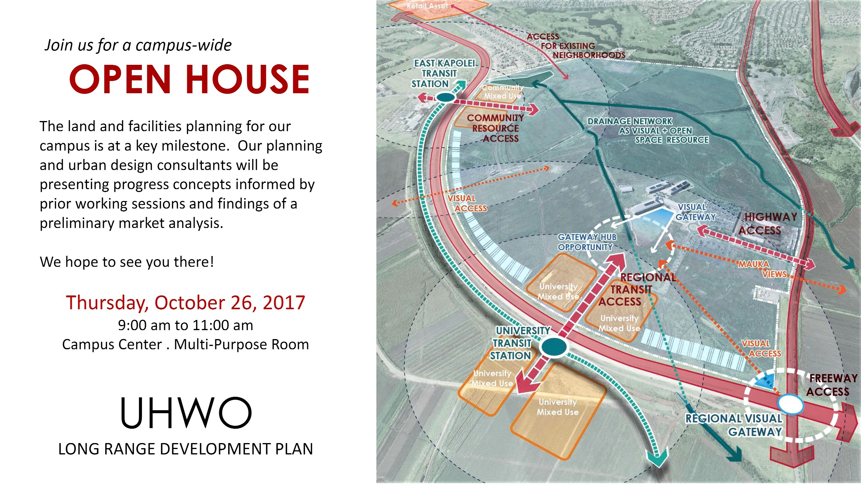 Flyer for Open House with information that is contained in the article