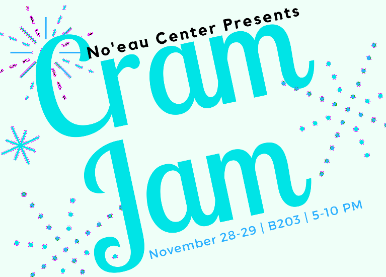 Flyer for Cram Jam with dates and times