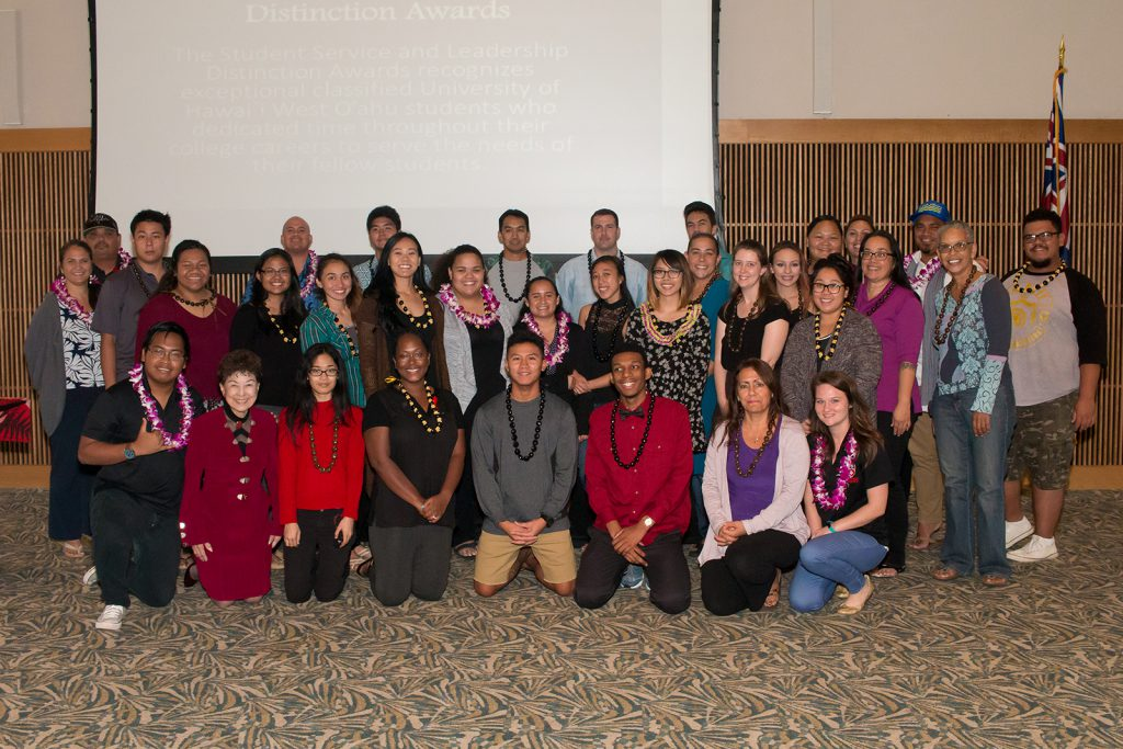photo of 2016 Pueo awards students and faculty