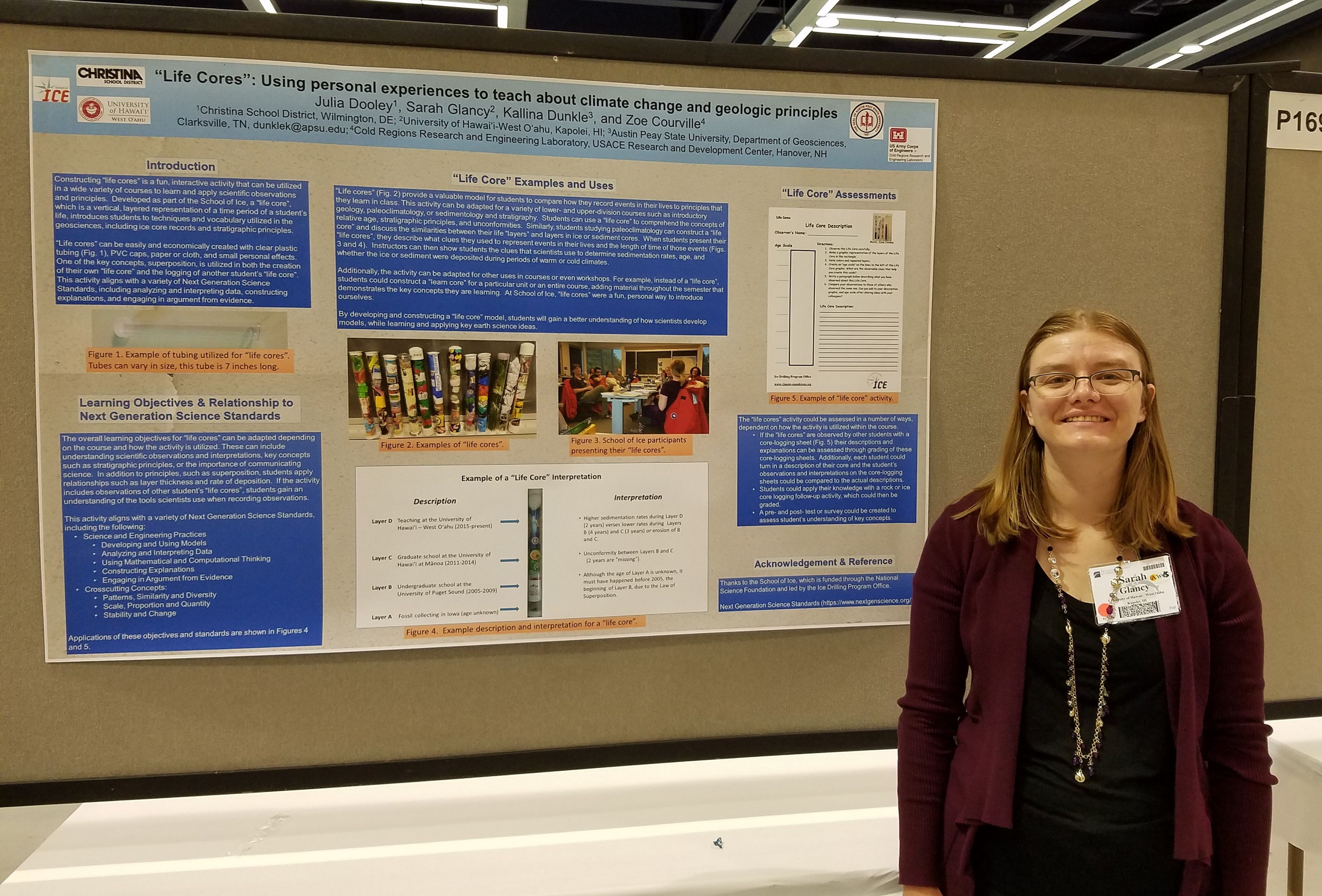 Photo of sarah glancy and her poster
