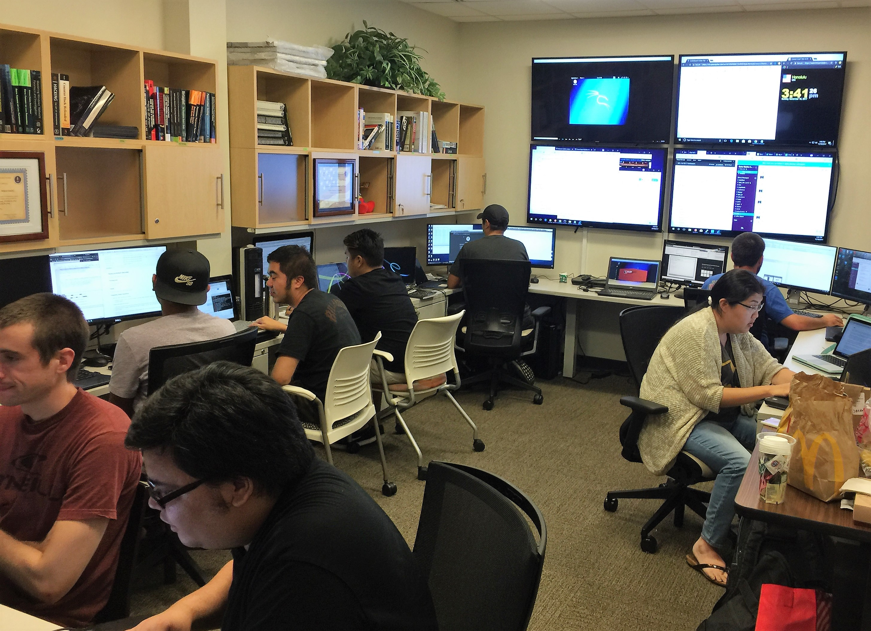 photo of UHWO team working together in a room