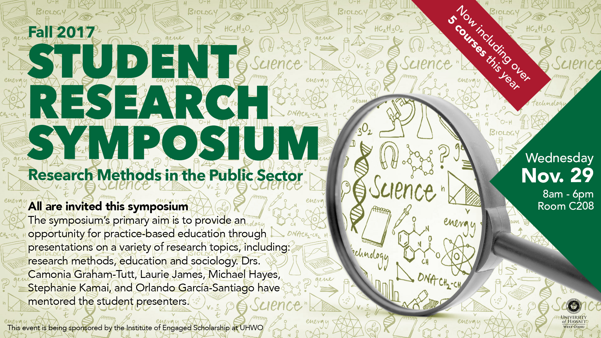 Flyer advertising Fall 2017 Student Research Symposium
