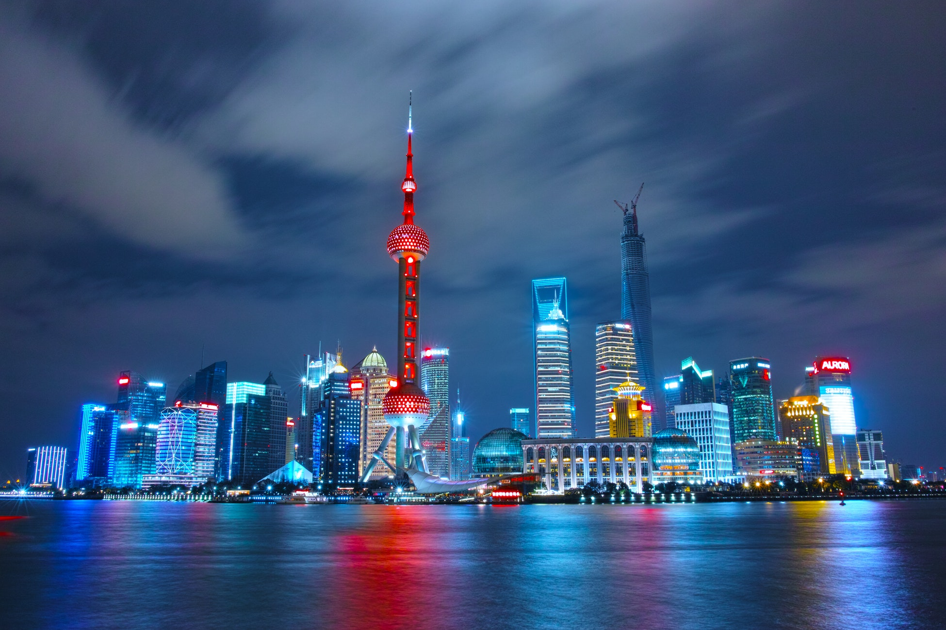 Photo of Shanghai, China and caption that UHWO is offering Chinese language classes for the first time this spring