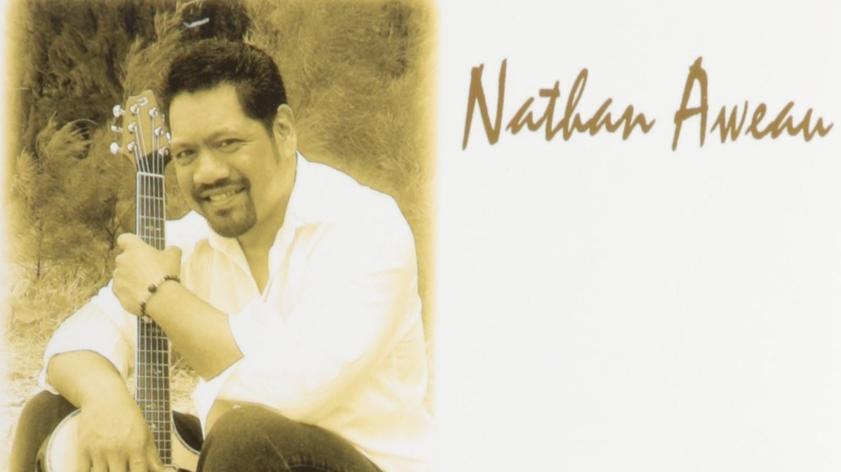 Photo of Nathan Aweau and guitar