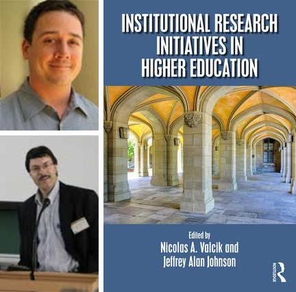 Image of the book cover of Institutional Research Initiatives in Higher Education, John Stanley, and Serge Herzog collage.