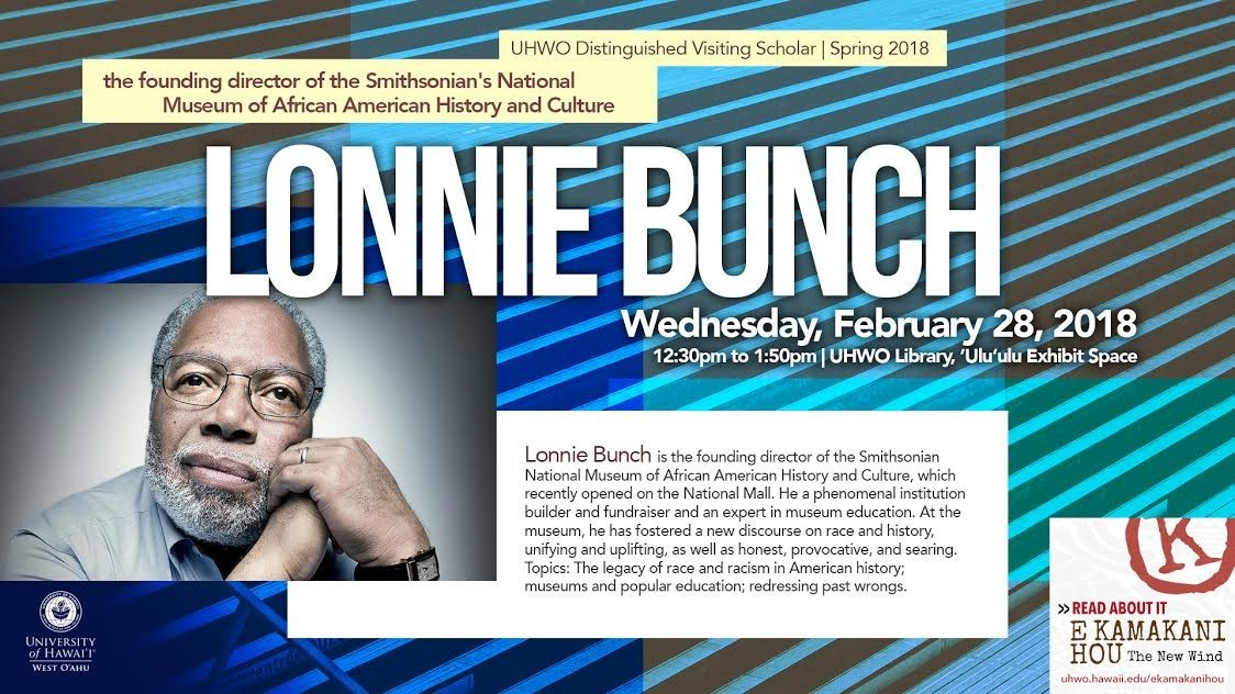 Flyer for Lonnie Bunch talk containing same information as is in article