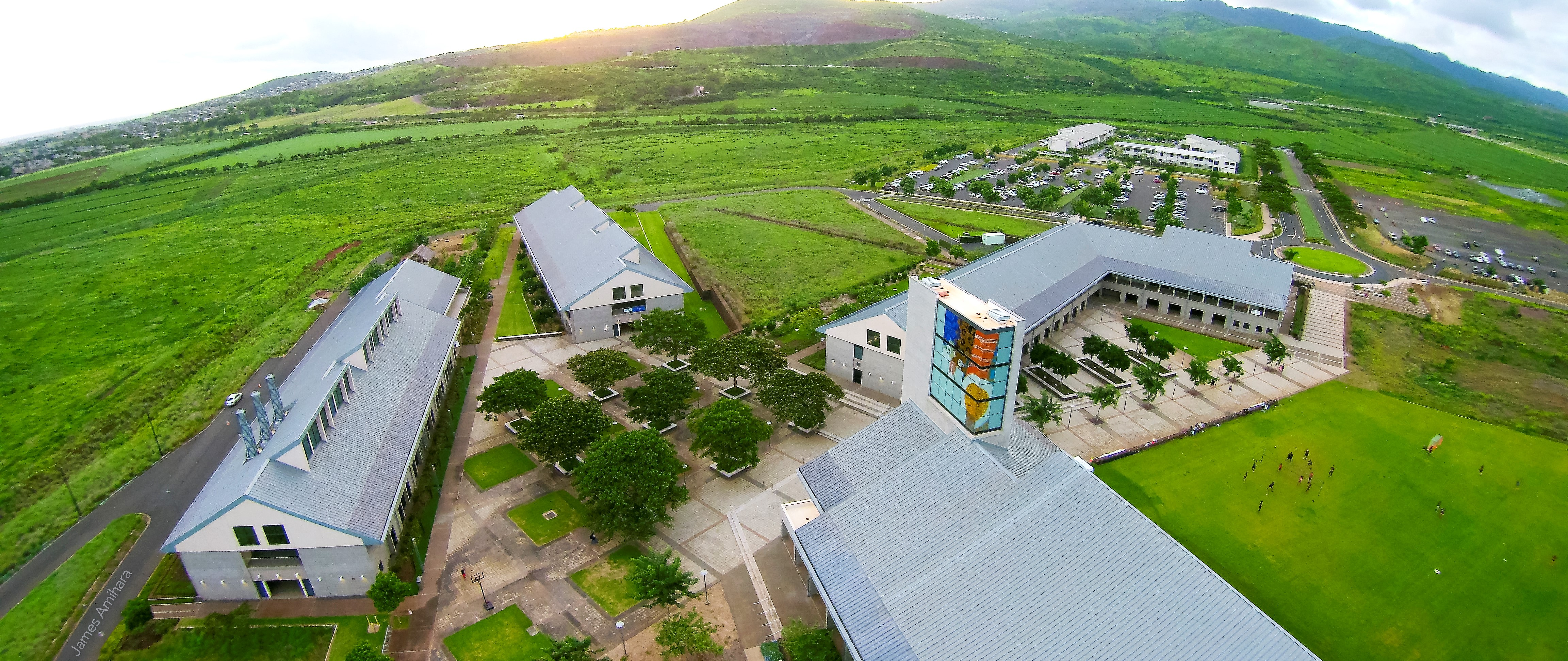 Aerial photo of UH West Oahu Campus