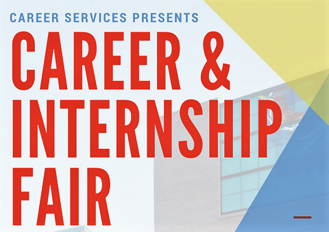 Portion of Flyer for Career & Internship Fair that includes name of the event