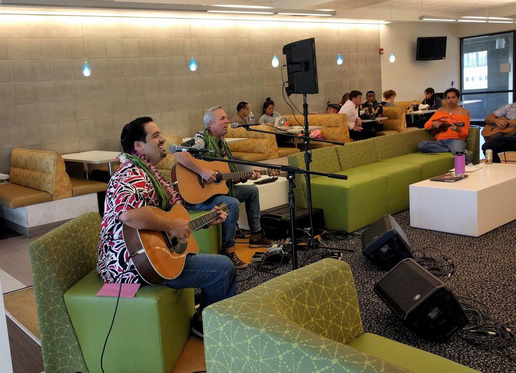 Kamuela Kimokeo and Bobby Moderow Jr. played at a Hoʻokani Kulanui earlier this semester.