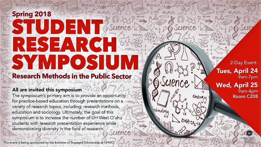 Flyer for research symposium. Contains same information as is in the article