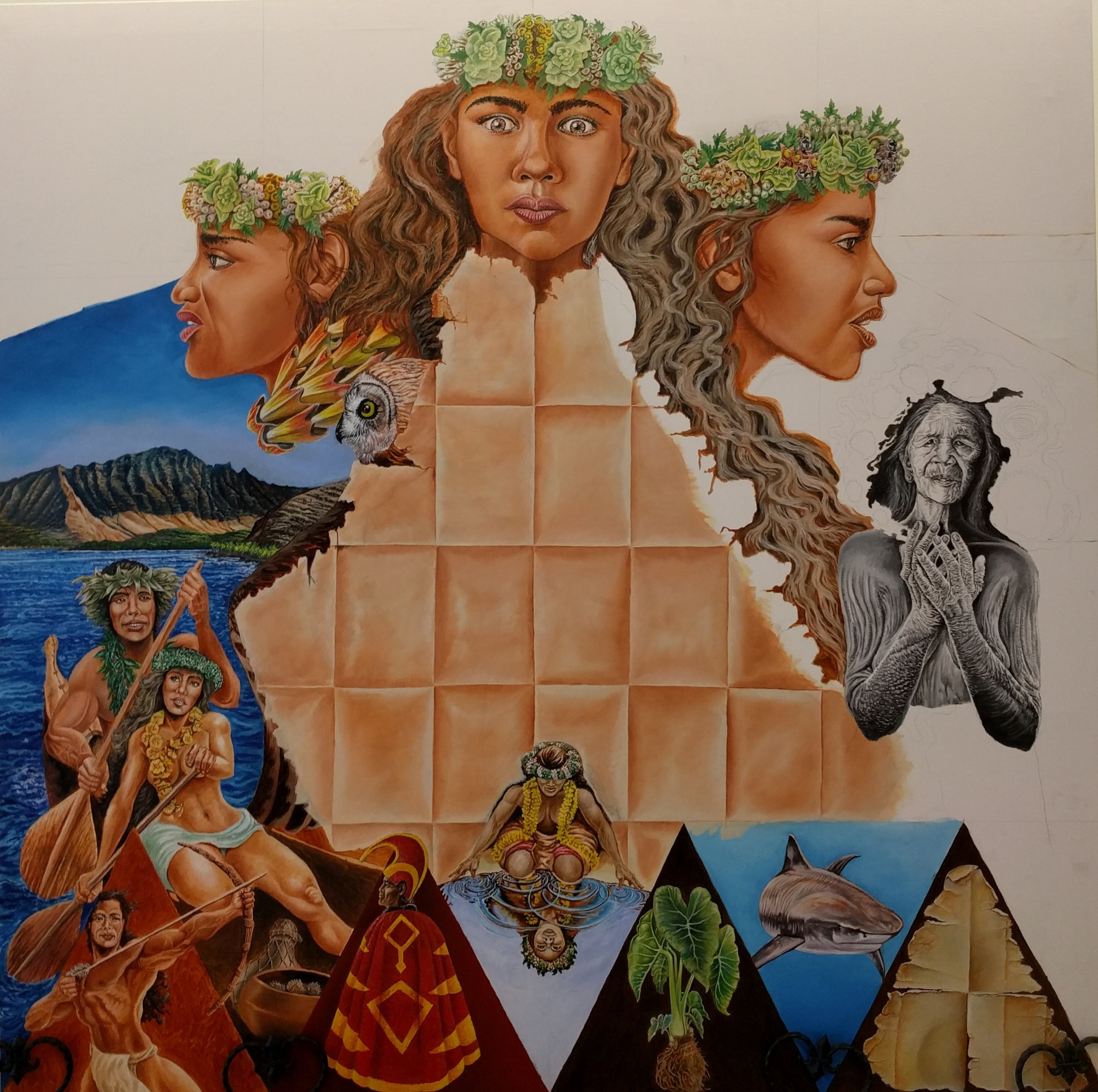 Once Kupihea's mural is completed, a larger digitized version will be placed on a wall