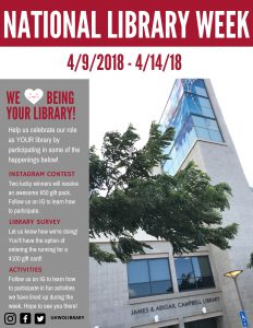 Flyer for Library Week