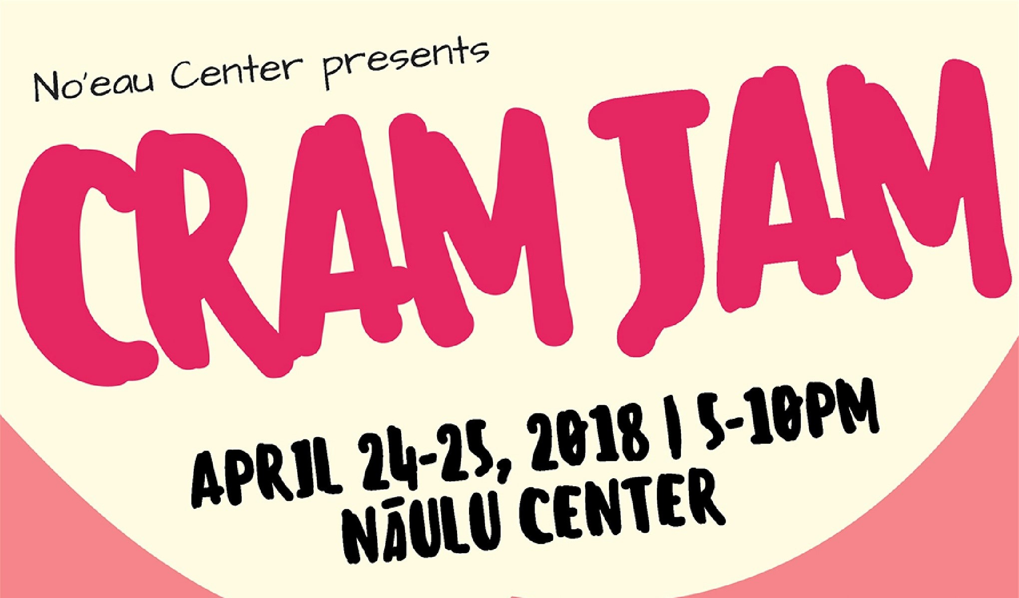 Flyer for Cram Jam