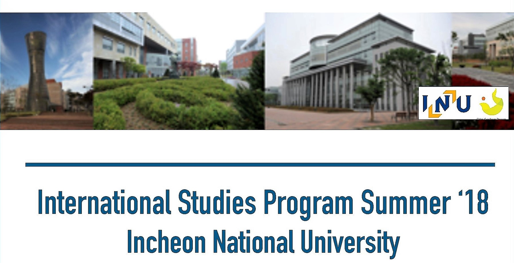 Flyer for Incheon Study Abroad program