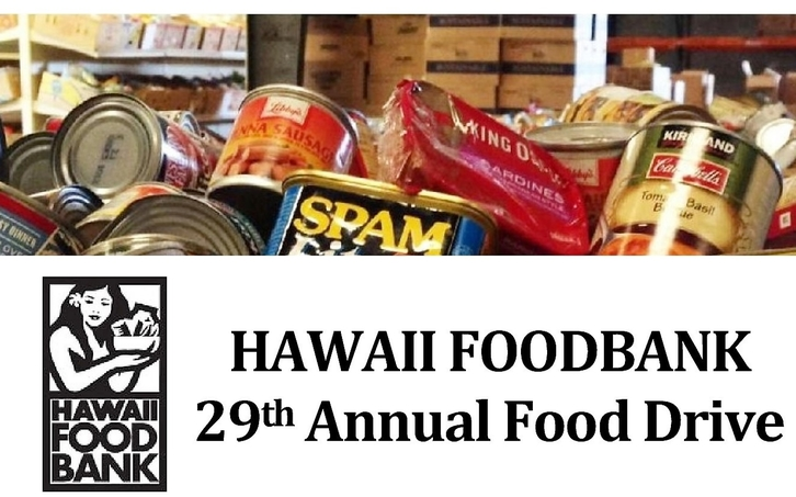 Pictures of food and works 29th annual foodbank Drive, Hawaii FoodBank