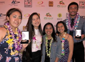 Pambid and fellow Searider Productions winners at Pele Awards