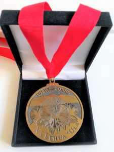 Photo of medallion in box