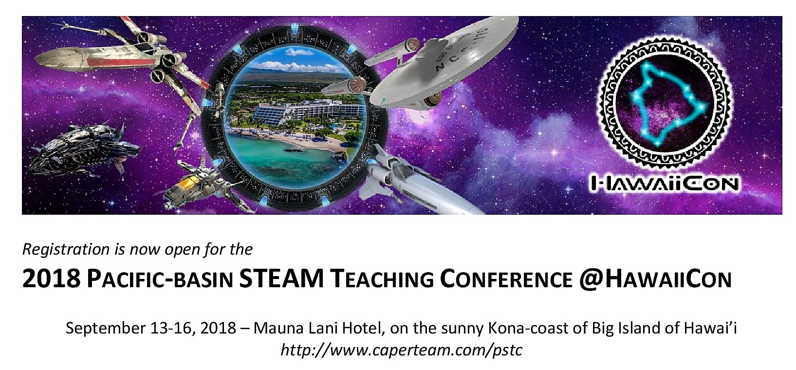 Flyer for Pacific Basin STEAM Teaching Conference