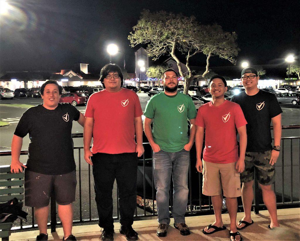Photo of Validity team with capition The Validity team (from left) Jayson Hayworth, Taylor Kina, Tim Gunderson, Gabriel Farinas, Bryan Tanaka