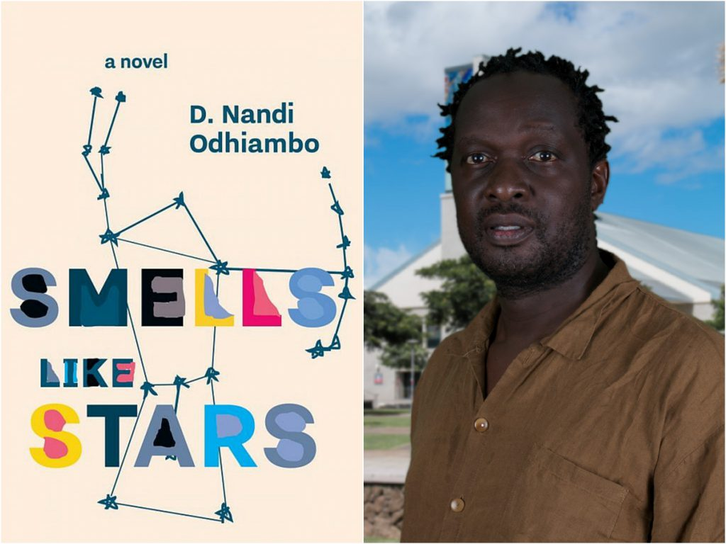 photos of the cover of Smells Like Stars and D. Nandi Odhiambo