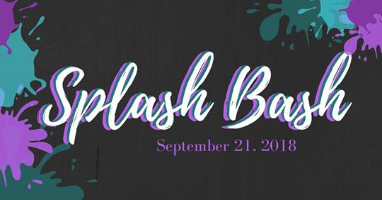 Words Splash Bash September 21, 2018 against a black background