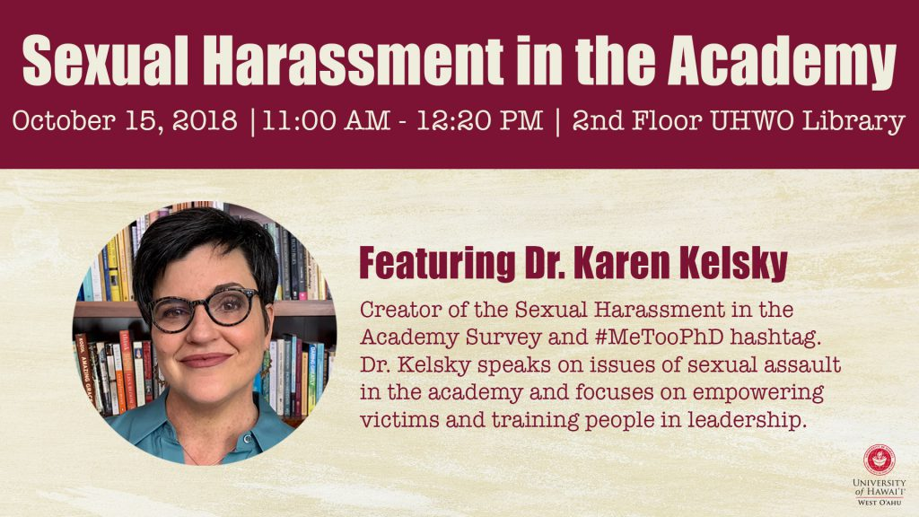 Flyer for Karen Kelsky talk. Information included on flyer is also included in the article
