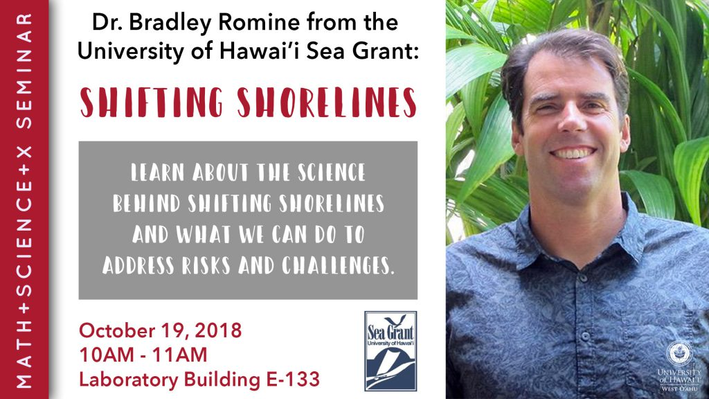 Flier for Math + Science + X seminar with picture of Bradley Romine. Includes information that is presented in the article.