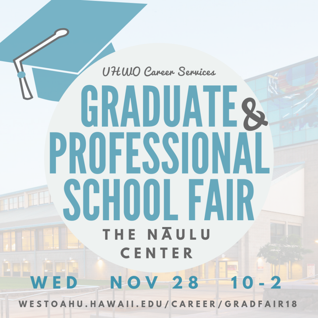flier for Graduate & Law School Fair listing date, time and location of fair