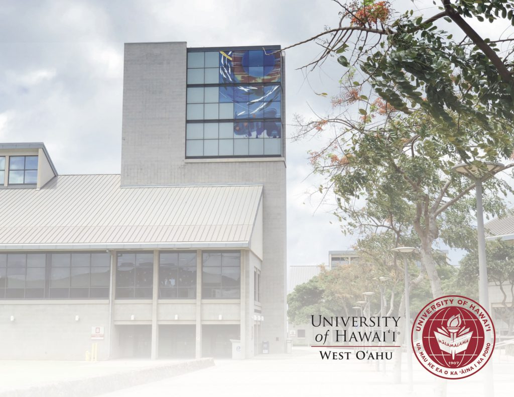 Photo of Library Tower with a white screen over entire picture. In right lower corner is a red logo of the university
