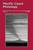 Cover of Pacific Coast Philology
