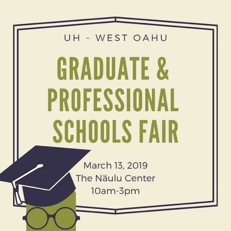 Flier for Graduate and Professional Schools fair with time, date and place