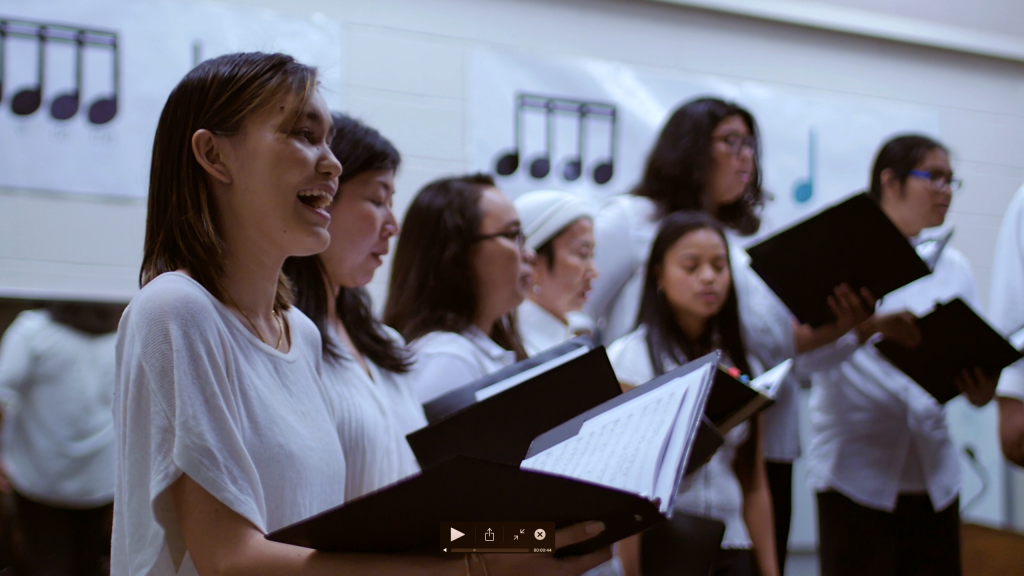 Members of the UH West Oʻahu Chorus sing at a performance.