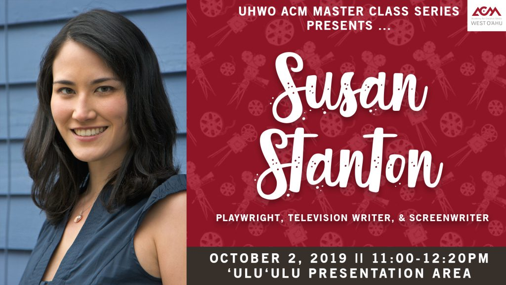 Flyer for Creative Media class for Susan Stanton on October 2 at 11 a.m.