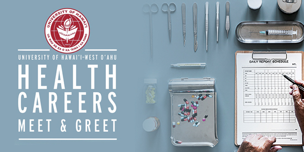 Health Careers meet and greet graphic