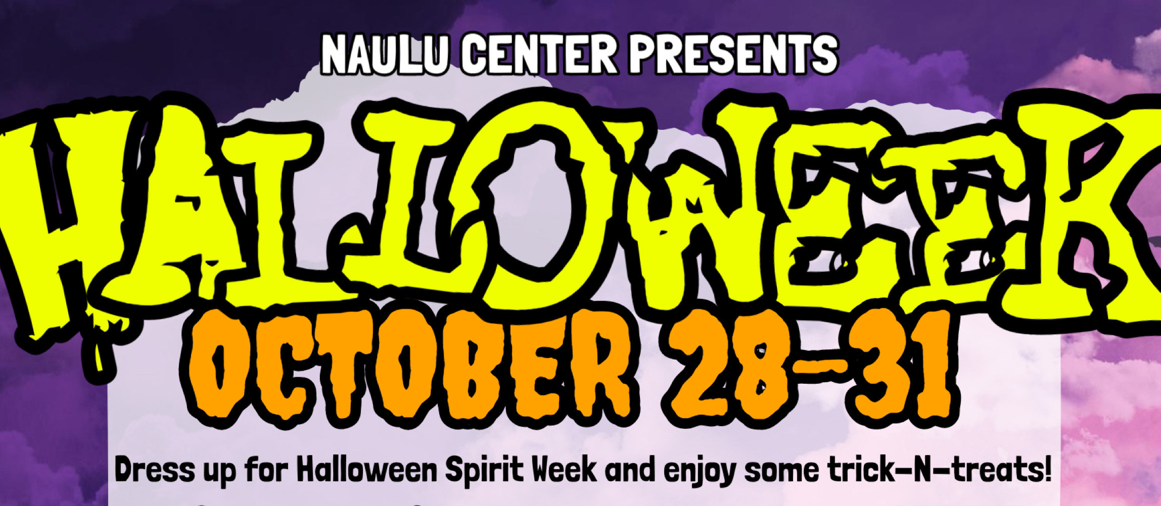 Top of flyer for Halloweek