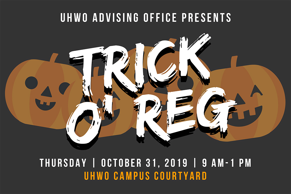 Trick O' Reg on October 31, 2019.
