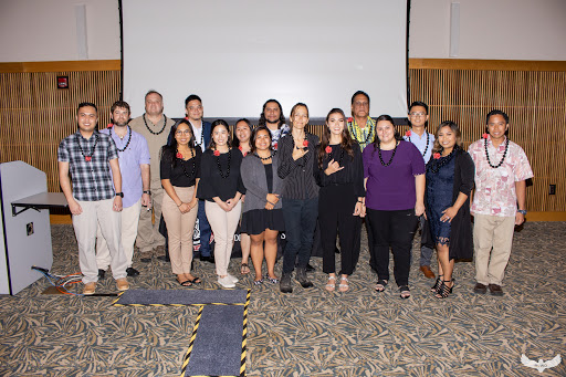 Group photo of students who were inducted into the UH West Oʻahu Chapter of National Society of Leadership and Success.