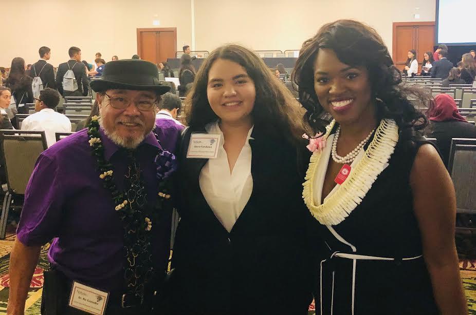 Group photo of Dr. Ric Custodio, Sierra Furukawa and Dr. Camonia Graham-Tutt.