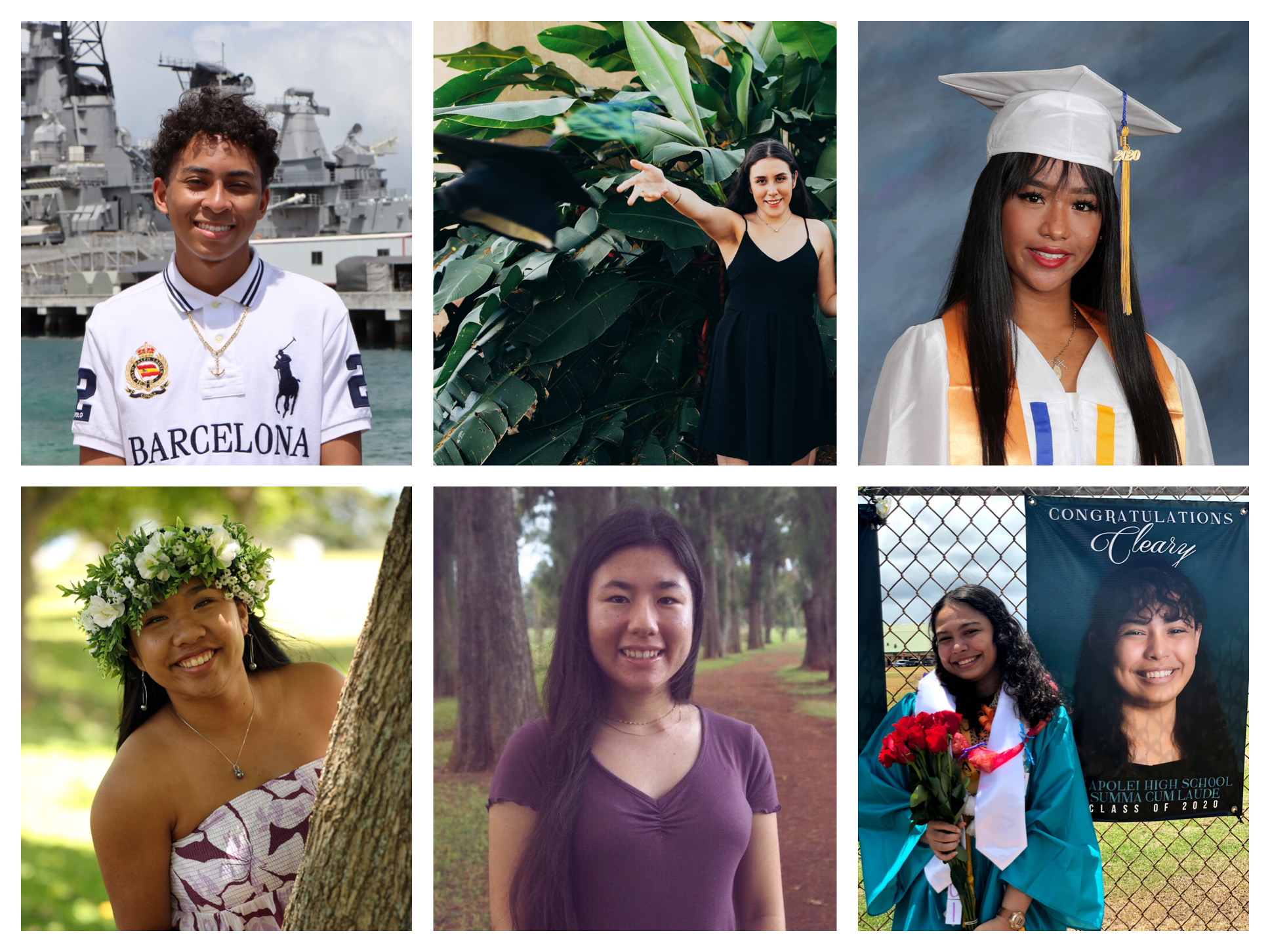 Collage of six scholarship recipients.