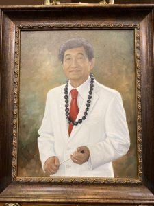 Painting of Michael Nakasone.
