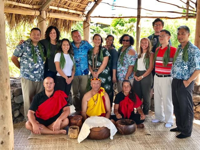 Group photo of new faculty and staff members at UH West Oʻahu.