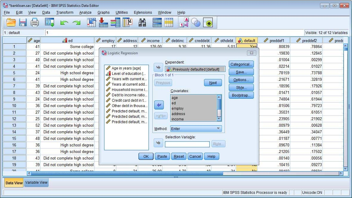 SPSS Stats Data Editor