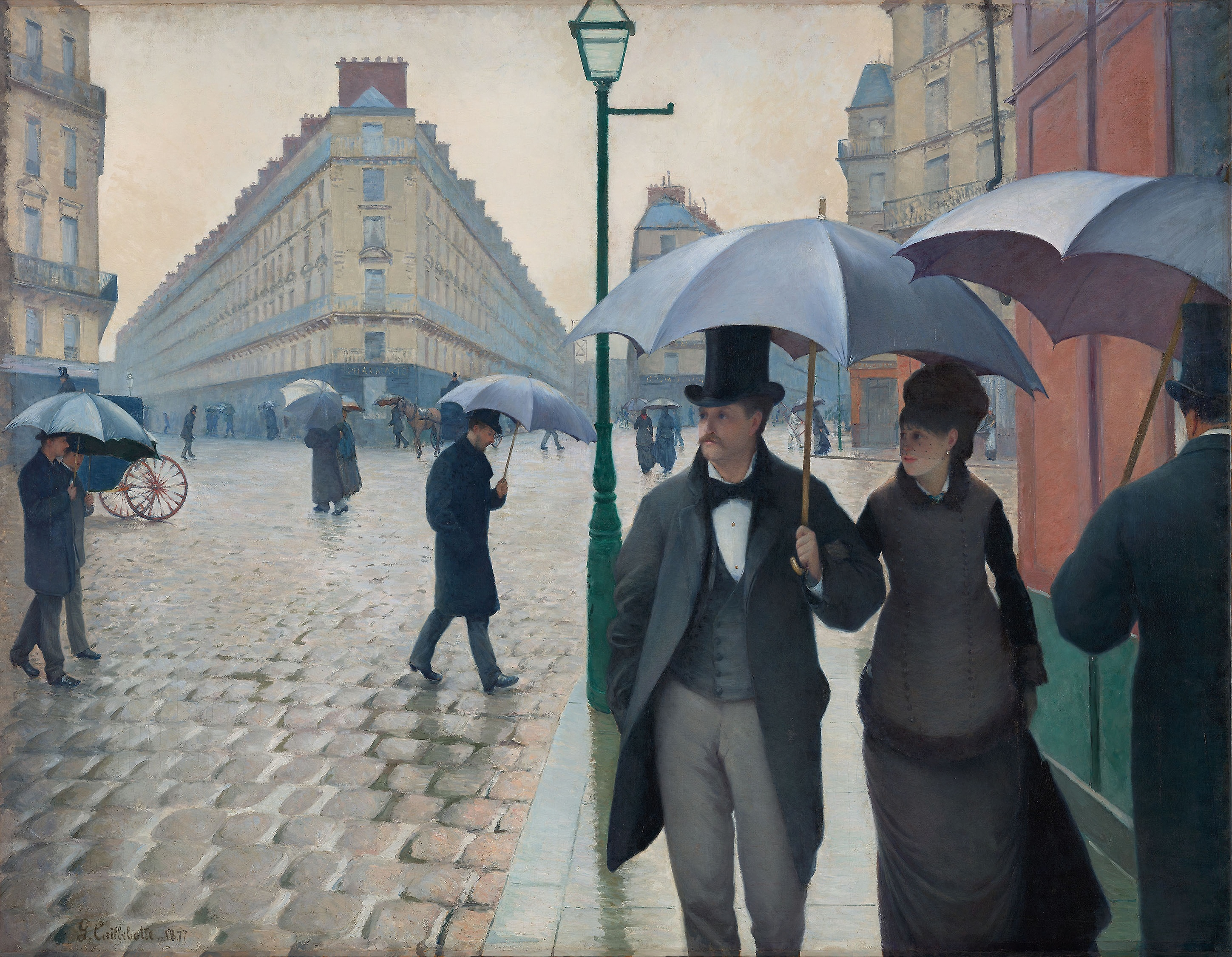 Artwork by Gustave Caillebotte; Public Domain